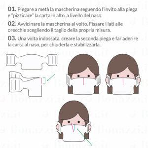 Mascherine in carta, come indossare | Stampa in Italia