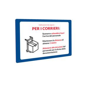 Cartello Covid-19 corrieri 1 | Stampa in Italia