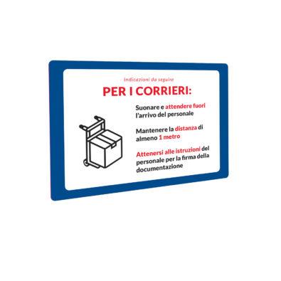 Cartello Covid-19 corrieri 1   Stampa in Italia